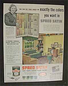 Vintage Ad: 1952 Spred Satin Paint with Kate Smith (Image1)