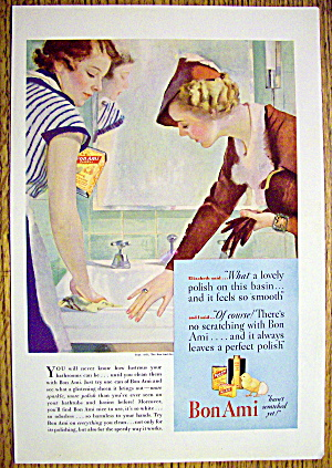 1935 Bon Ami Powder with Woman Who Used Powder on Sink (Image1)