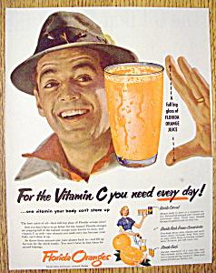 Vintage Ad: 1953 Florida Oranges (Image1)