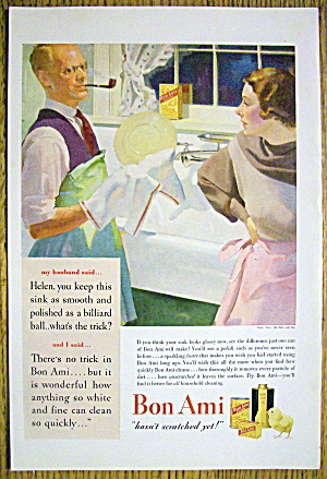 1935 Bon Ami Powder with Husband Doing Dishes (Image1)