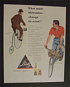 1952 Blatz Beer with 2 Men on Different Bikes (Image1)