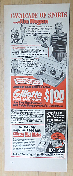 1952 Gillette Super-Speed Razor w/ Catcher Jim Hegan (Image1)