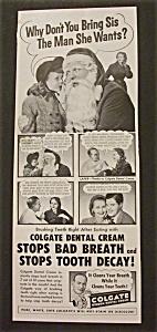 1952  Colgate Dental Cream with  Santa Claus (Image1)