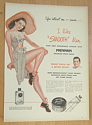 1946 Mennen Brushless Shave with Lovely Woman  (Image1)