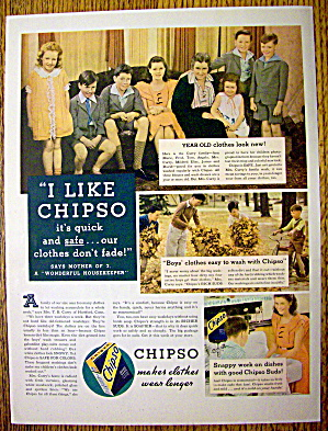 1935 Chipso Quick Suds with a Woman & Her Family (Image1)