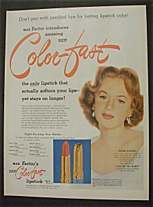 Vintage Ad: 1952 Max Factor Lipstick With Piper Laurie