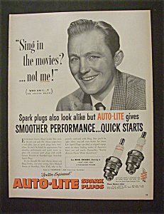 1952 Auto Lite Spark Plugs With Bing Crosby