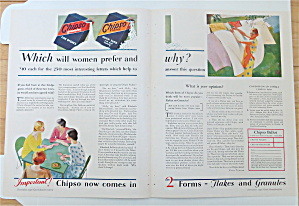 1930 Chipso Flakes & Granules With Women