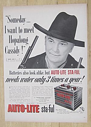1952 Auto Lite Battery w Hopalong Cassidy(William Boyd) (Image1)