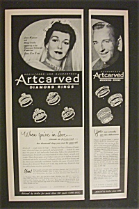 1952 Artcarved Diamond Rings W/ Wyman & Crosby