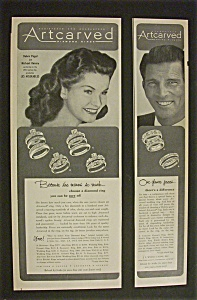 1952 Artcarved Diamond Rings W/ Paget & Rennie