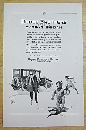 1925 Dodge Brothers With Type B Sedan With Family