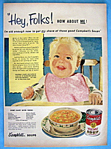 Vintage Ad: 1951 Campbell's Vegetable Soup (Image1)
