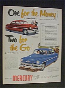 1951 Dual Ad:   Mercury   &  Fatima  Cigarettes (Image1)