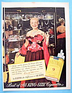 Vintage Ad: 1952 Fatima Cigarettes With Carrie Munn