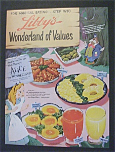 Vintage Ad: 1951 Libby's w/ Alice & Chesterfield (Image1)