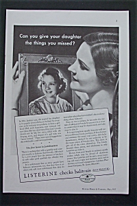 1935 Listerine with Woman Looking At Daughter's Picture (Image1)