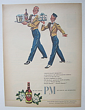 1945 Pm Whiskey With Two Bellboys Carrying Whiskey
