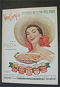 1951 Van Camp's Mexican Style Foods