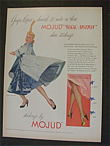 1951 Mojud Stockings With Ginger Rogers