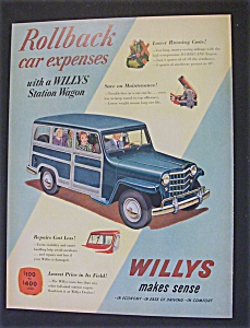 1951 Dual Ad: Willys  &  G E  Television (Image1)