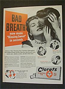 Vintage Ad: 1951 Clorets Gum & Zenith Hearing Aid (Image1)