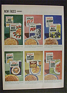Vintage Ad: 1952 Kellogg's Cereal (2 Page Ad) (Image1)