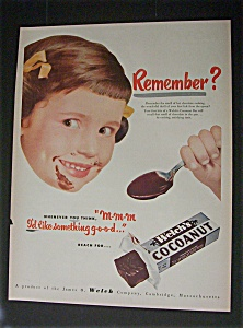 Vintage Ad: 1951 Welch's Cocoanut