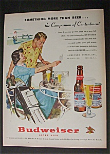 1951 Dual Ad: Budweiser Beer & Coffee