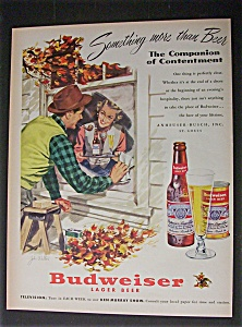 1951 Dual Ad: Budweiser Beer & Shell Motor Oil