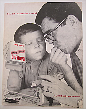 1960 Band Aid Plastic Strips with Man & Boy  (Image1)