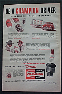 1950 Champion Spark Plugs with A Champion Driver (Image1)