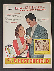 1951 Chesterfield W/ Donna Reed & John Derek