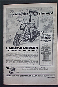 1950 Harley Davidson Hydra-Glide Motorcycle w/The Champ (Image1)