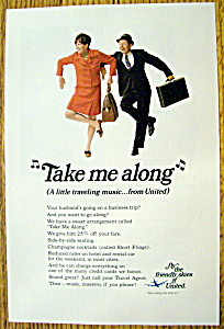 Vintage Ad: 1968 United Air Lines Traveling Music