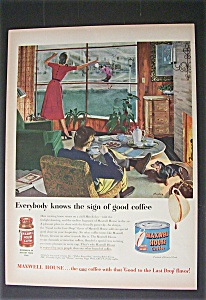 Vintage Ad: 1951  Maxwell  House  Coffee (Image1)