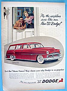 Vintage Ad: 1952 Dodge Coronet Sierra (Image1)