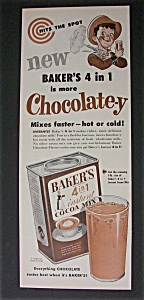 Vintage Ad: 1952 Baker's Cocoa Mix