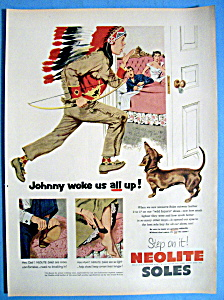 1952 Neolite Soles With Boy Dressed Like Indian