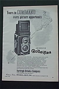 1950 Automatic Rolleiflex Camera with Picture of Camera (Image1)