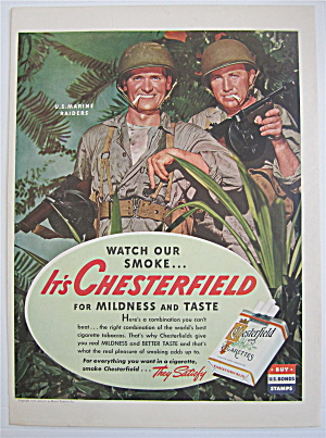 1943 Chesterfield Cigarettes With U.S. Marine Raiders (Image1)