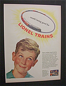 1952 Dual Ad: Lionel Trains & Old Crow Whiskey