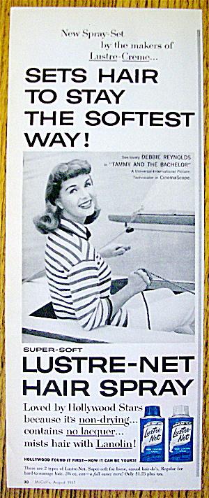 1957 Lustre-Net Hair Spray with Debbie Reynolds (Image1)