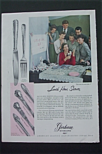 1950 Gorham Sterling with Picture of a Party (Image1)