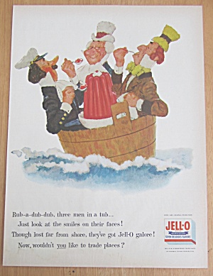 1955 Jell-O Gelatin Dessert with Three Men in a Tub (Image1)