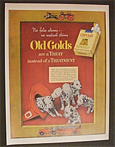 1952 Old Gold Cigarettes With 5 Dalmatian Puppies