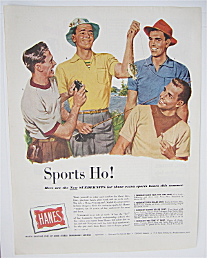 1950 Hanes Suedeknits with 4 Men Fishing (Image1)