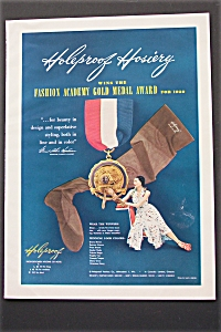1950 Holeproof Hosiery with Medal & Woman with Hosiery  (Image1)