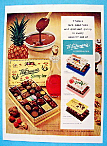 Vintage Ad: 1958 Whitman's Chocolates