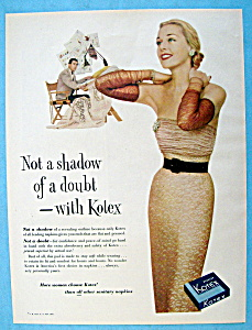 1952 Kotex with Woman in Lovely Dress (Image1)
